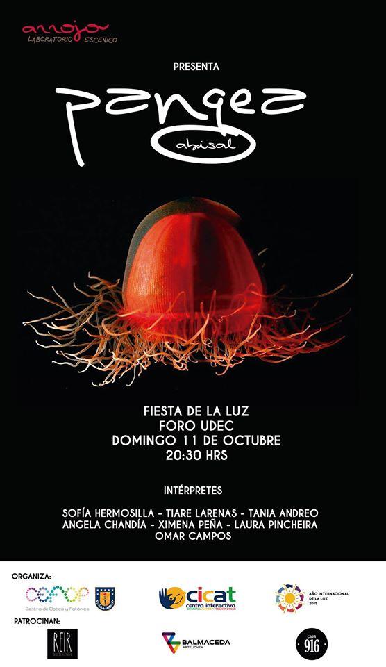 Ayudante coreográfica en PANGEA de Colectivo Arrejo. Fiesta de la luz Foro Udec (Concepción, Chile). 2015