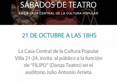 Filipo en Casa de la Cultura Popular (Buenos Aires, Argentina)