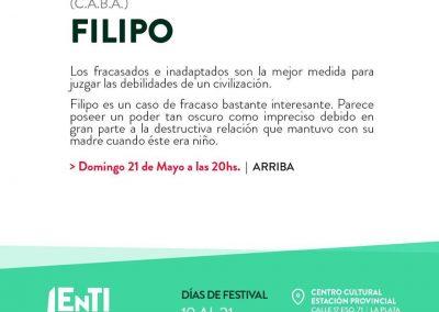 Filipo en Festival ENTI (La Plata, Argentina)