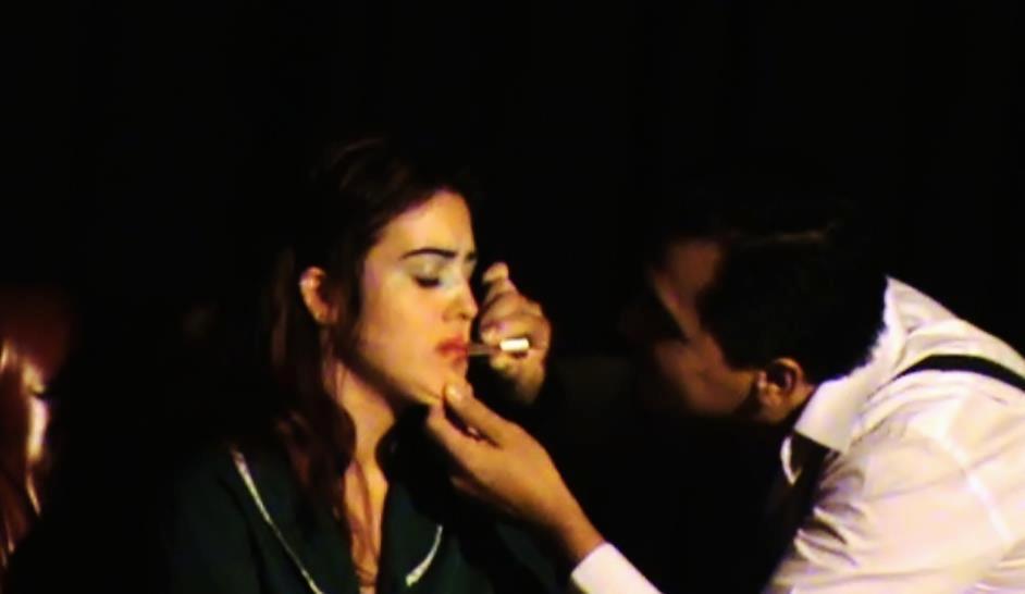 Actriz en La enfermedad de la  juventud de Ferdinand Bruckner. Personaje Lucy. Dirección Antonio Andrés de la Peña. ESAD Sevilla. Marzo 2012.