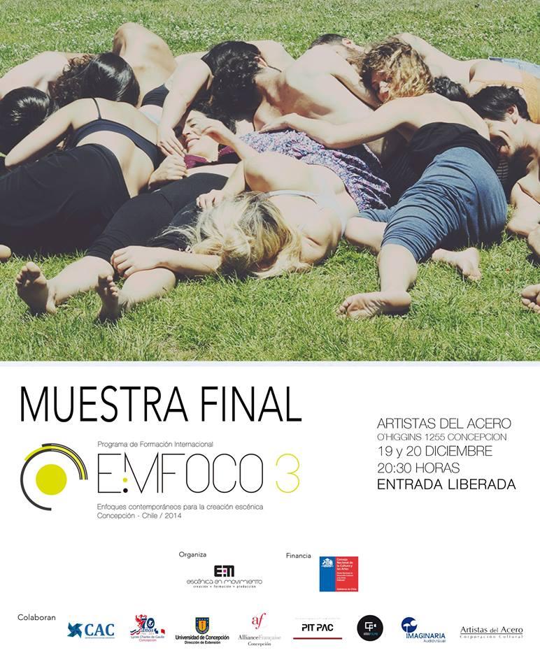 Cartel Muestra Final EMFOCO 3